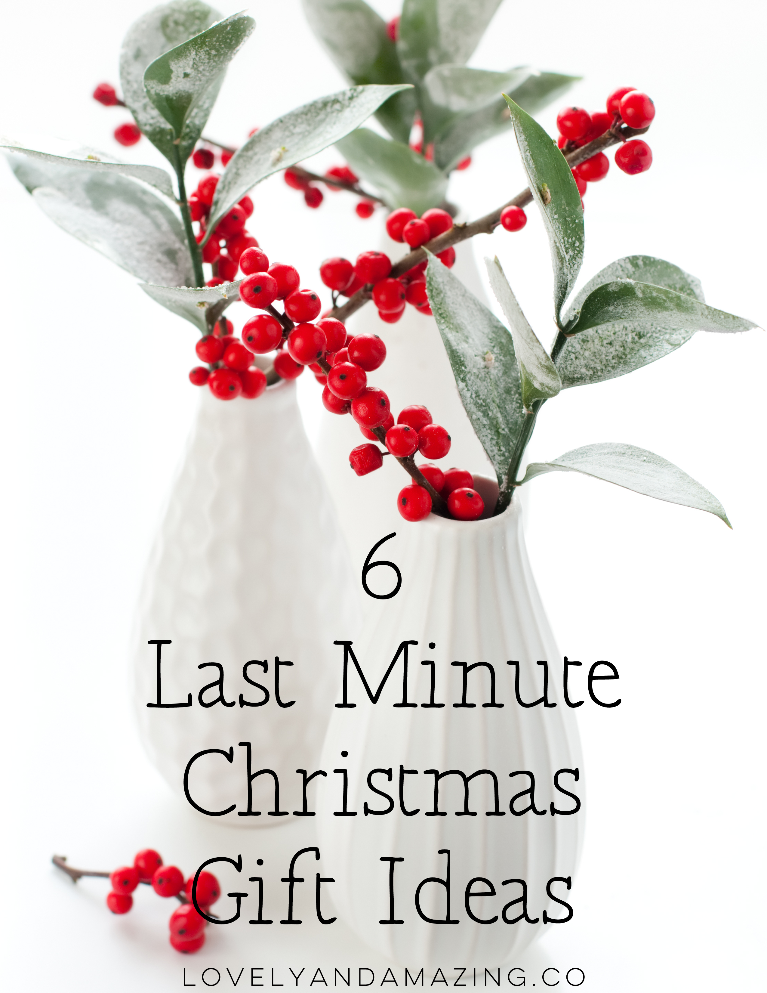6 Last Minute Christmas Gift Ideas - Lovely and Amazing Weddings